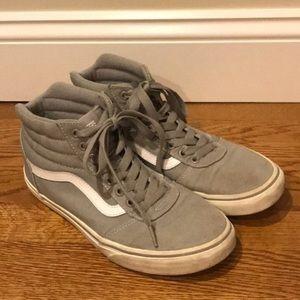 Vans High Tops Skater Sneakers Gray Size 8.5 Men's